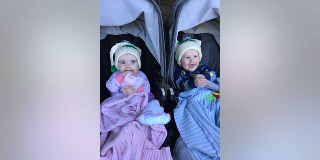 Twins Conor and Tierney.