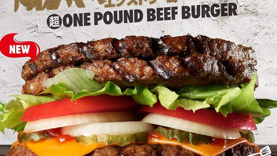 Burger King Japan releases 'extreme' burger with pound of meat, no bun