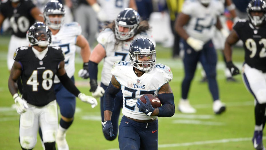 Derrick Henry overtime touchdown leads Titans win; Harbaugh snubs Vrabel postgame
