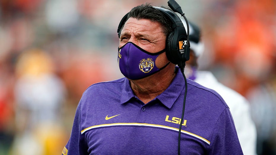 Orgeron: LSU has COVID outbreak, injured QB still sidelined