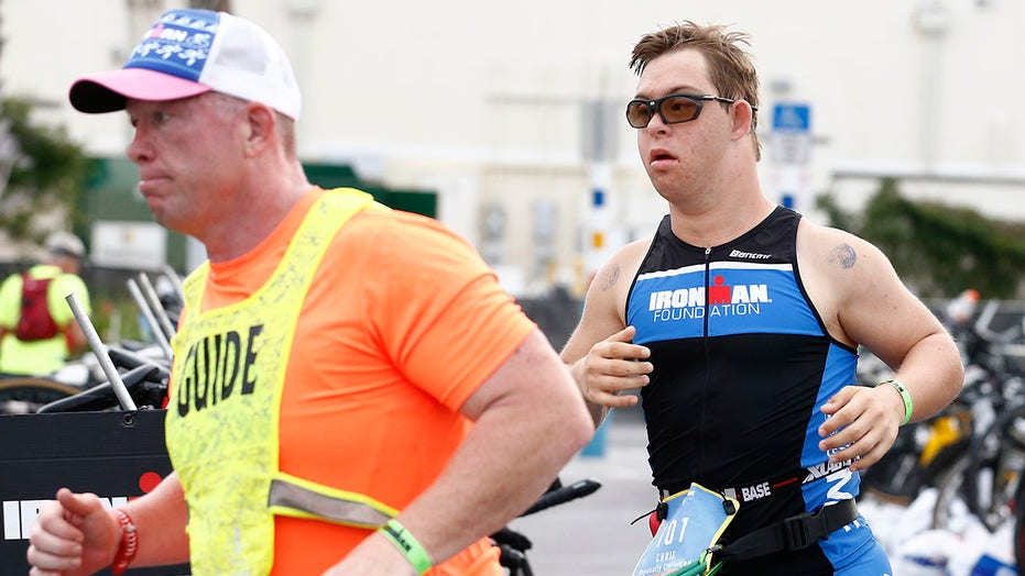 Florida athlete becomes first person with Down syndrome to finish IRONMAN triathlon