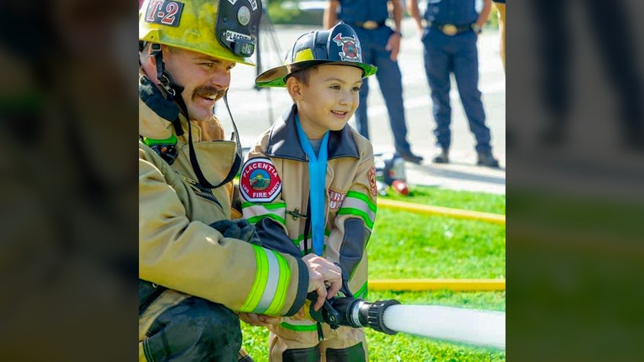 California fire department honors boy, 4, who saved 2-year-old brother from drowning in backyard pool