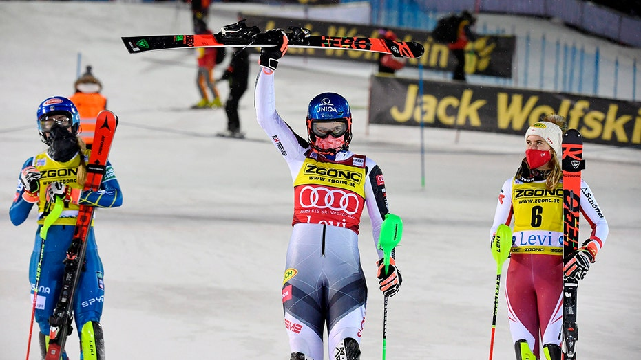 'Proud' Shiffrin comes runner-up to Vlhova in comeback race