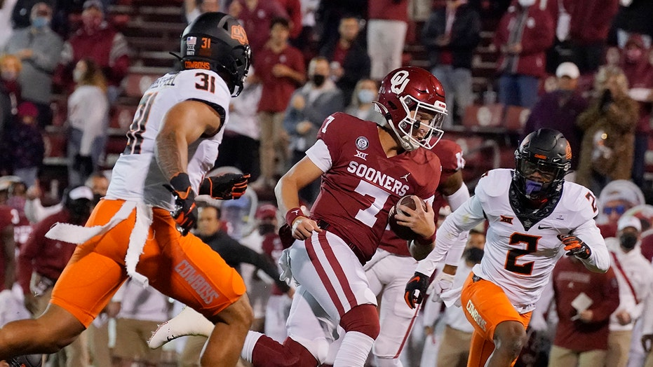 Rattler leads No. 18 Oklahoma past No. 14 Oklahoma St. 41-13