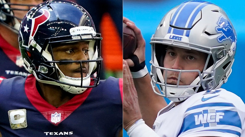 Matthew Stafford, Deshaun Watson kneel during anthem before Lions-Texans Thanksgiving game