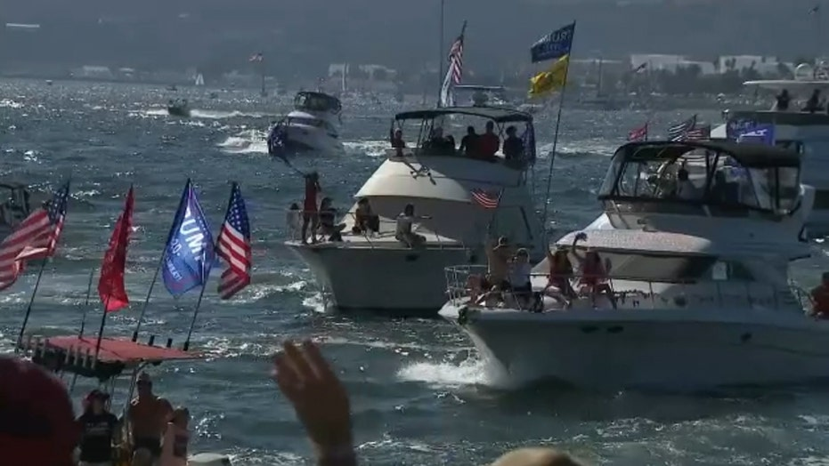 Pro-Trump boaters hold final San Diego Bay parade before Election Day