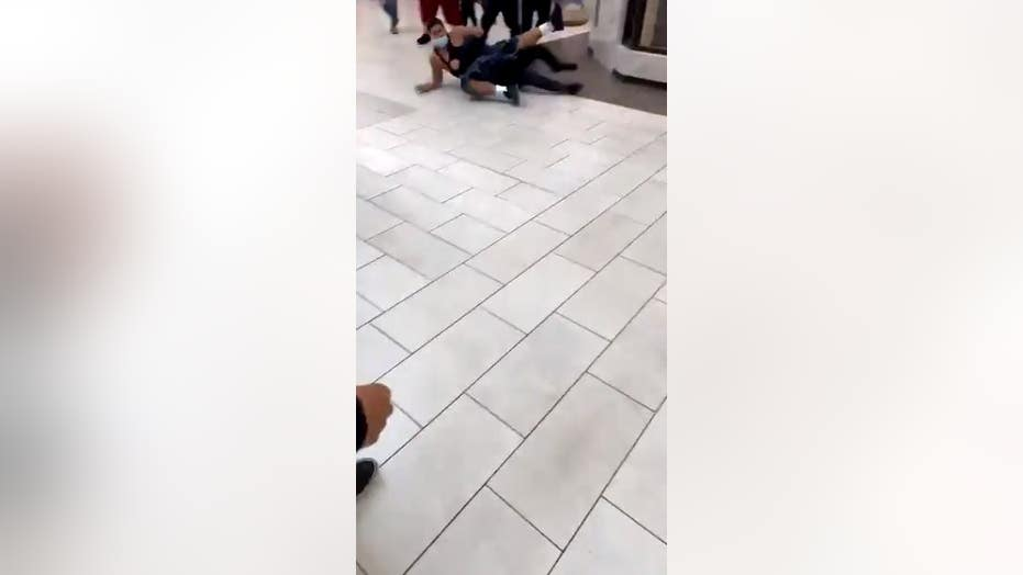 Video captues off-duty officer fighting in Los Angeles-area shopping mall