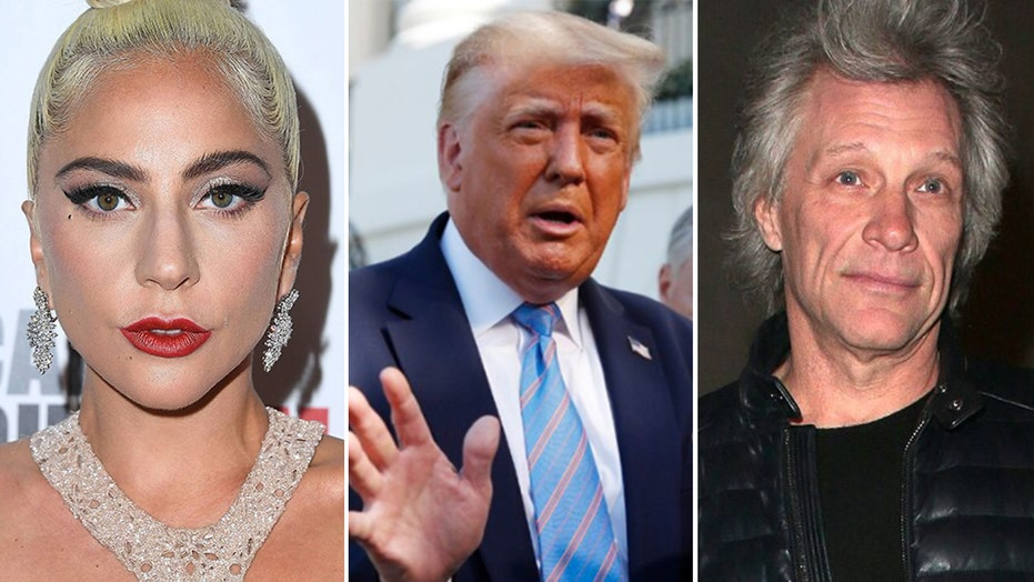 President Trump slams Jon Bon Jovi, Lady Gaga for Biden campaign performances