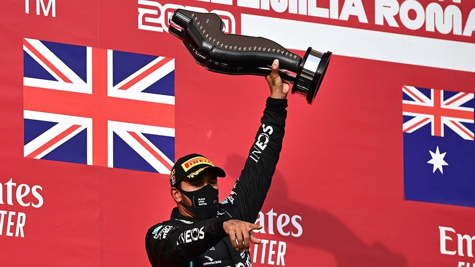 Formula One: Lewis Hamilton gets record-extending 93rd career win at Imola