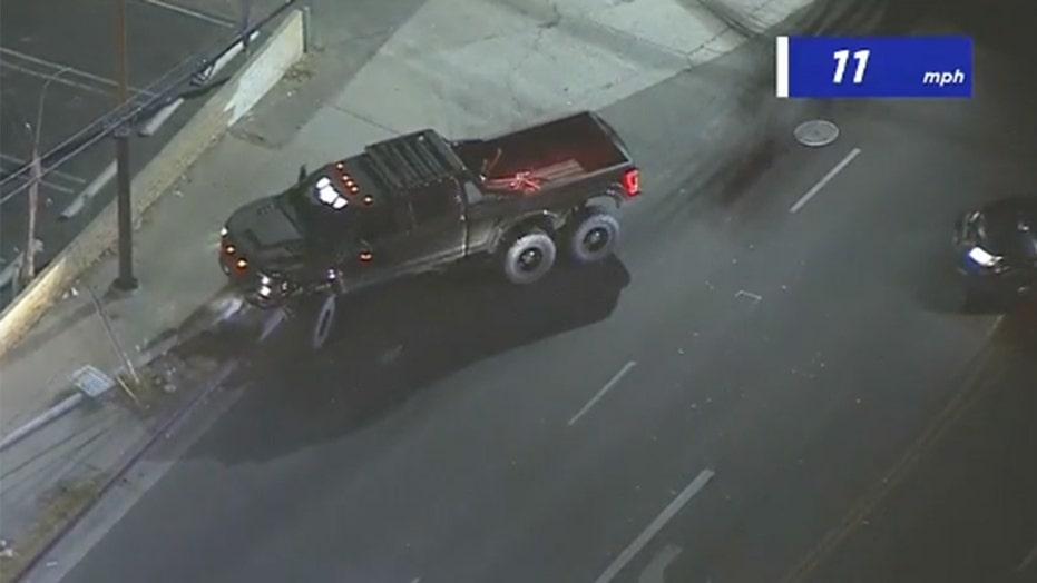Marshmello's monster truck wrecks during California police chase