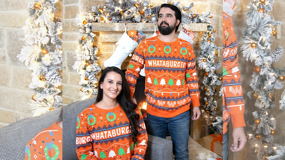 Whataburger debuts 2020 holiday sweater decked out in trees, wreaths, but oddly no hamburgers