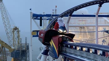 Carnival Cruise Line tested out its new ship's coaster with Santa