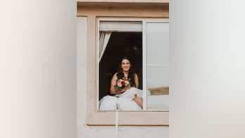 Bride with coronavirus marries groom through second-story window