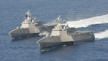 Navy littoral combat ship is now armed for attack with Hellfire missiles