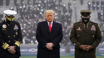 Trump cheered ahead of coin toss at Army-Navy game