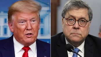 Trump on trusting Barr: Ask me again 'in a number of weeks'