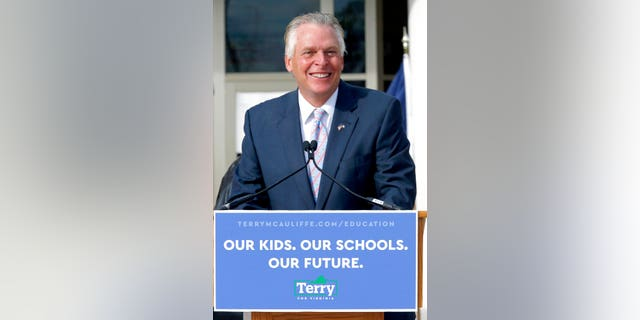 Former Virginia Gov. Terry McAuliffe announces he is running for the Democratic nomination for governor during a press conference in Richmond, Va. Wednesday, Dec. 9, 2020. (Bob Brown/Richmond Times-Dispatch via AP)