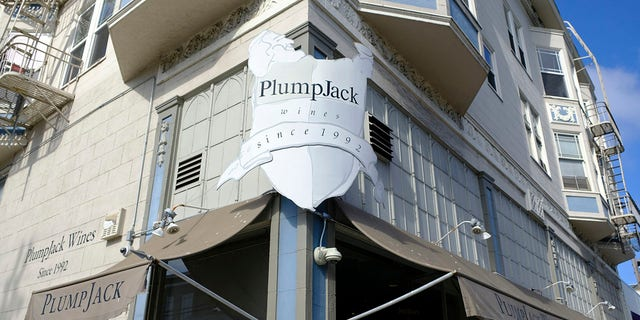 This Oct. 22, 2018, file photo shows the Plumpjack Wine & Spirits store in San Francisco, part of the Plumpjack Group collection of wineries, bars, restaurants, hotels and liquor stores. (Associated Press)