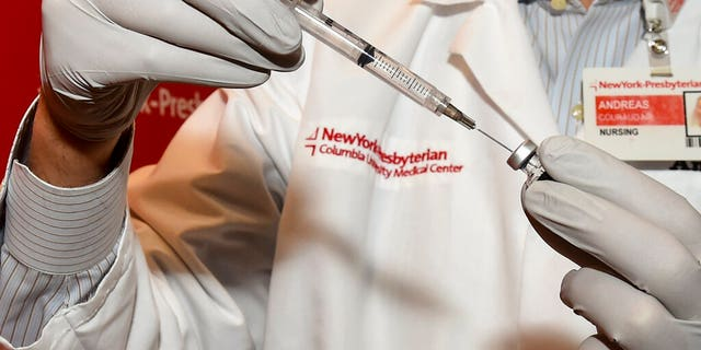 The COVID-19 vaccine is prepped for healthcare workers at NewYork-Presbyterian/Columbia University Irving Medical Center, on Tuesday, Dec. 15, 2020, in New York. (Diane Bondareff/AP Images for NewYork-Presbyterian)