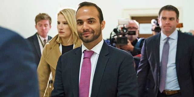 In this Oct. 25, 2018, file di foto, George Papadopoulos, the former Trump campaign adviser who triggered the Russia investigation, arrives for his first appearance before congressional investigators on Capitol Hill in Washington. (AP Photo / Carolyn Kaster, File)
