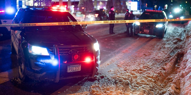 The scene in Minneapolis after a man was shot and killed by police, Des. 30, 2020. (Associated Press)
