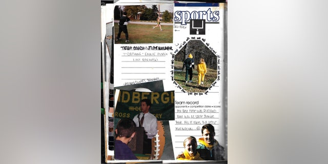 Emilie Morris' scrapbook featuring photos of James Wilder.