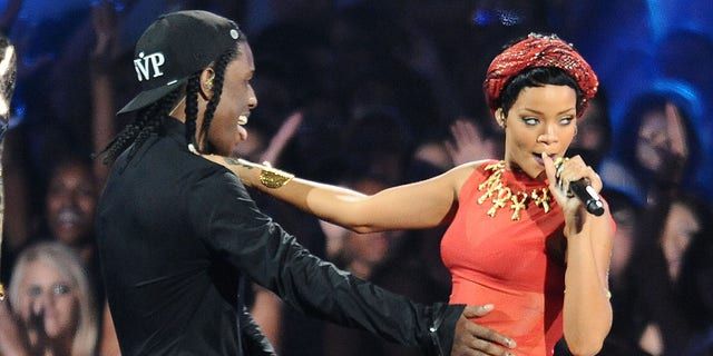 A$  AP Rocky and Rihanna perform at the 2012 MTV Video Music Awards. (Photo by Jason LaVeris/FilmMagic)