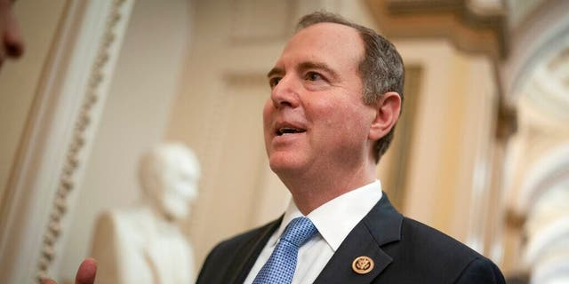 In this March 3, 2020, file photo, House Intelligence Committee Chairman Adam Schiff, D-Calif., talks to reporters on Capitol Hill in Washington, D.C. (AP Photo/J. Scott Applewhite, File)