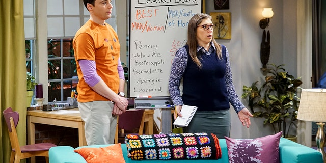 Parsons is best known for his role as Sheldon Cooper on 'The Big Bang Theory.' Also pictured is Mayim Bialik as Dr. Amy Farrah Fowler.