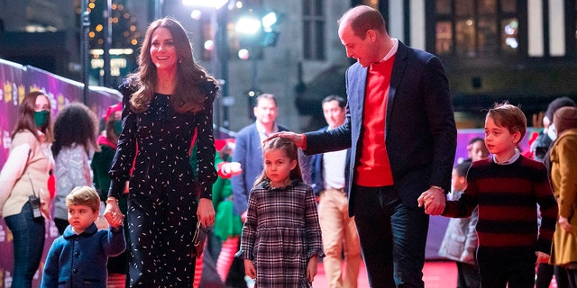 Kate Middleton and Prince William released a family photo that will be featured on their Christmas card. (Getty Images)