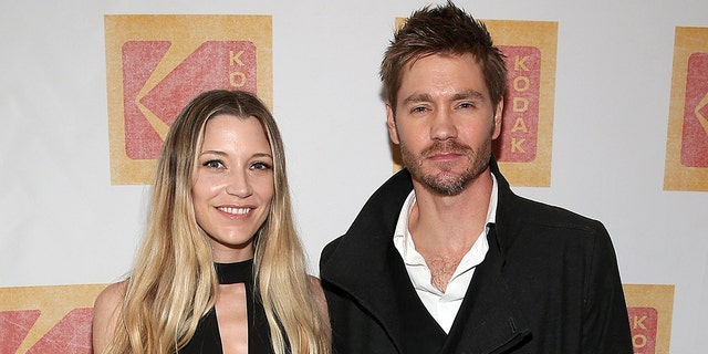 Actor Chad Michael Murray with his wife, actress Sarah Roemer. (Photo by Phillip Faraone/Getty Images for Kodak)