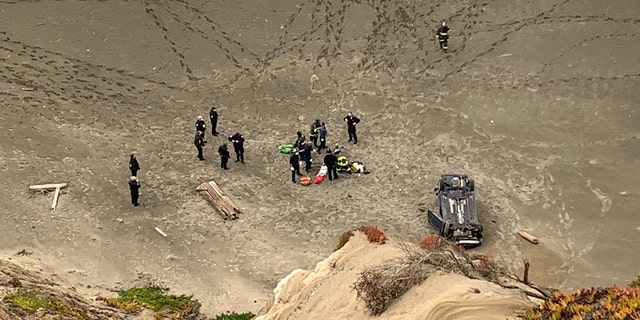 A woman's car plunged off a cliff in San Francisco.