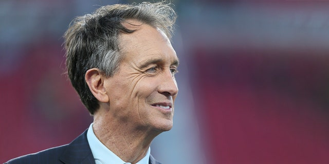 Cris Collinsworth during the NFL game between the Seattle Seahawks and the Los Angeles Rams on Dec. 8, 2019, at the Los Angeles Memorial Coliseum in Los Angeles. (Getty Images)