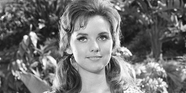 Dawn Wells as her character Mary Ann on the TV show 'Gilligan's Island' in 1964.