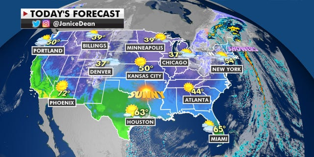 Forecast graphic (Fox News)