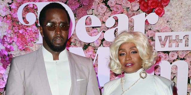 Sean 'Diddy' Combs (left) gifted his mother Janice (right) with $1 million and a Bentley for her 80th birthday. (Photo by Leon Bennett/Getty Images)