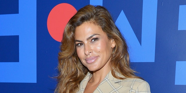 Eva Mendes said she let her daughter cut up an album cover because she's feeling 'mon pandemic guilt.' (Photo by Donato Sardella/Getty Images for New York & Company)