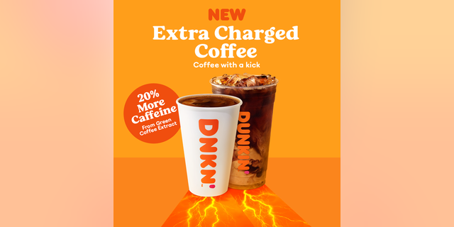 """If you're looking for an extra boost to help get your morning started on the right foot, or keep you runnin' throughout a busy day, we've got just the drink for you,"" Dunkin' writes of its new extra-caffeinated coffee."