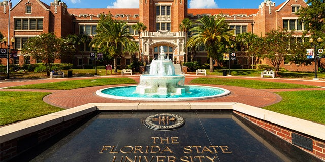 Tallahassee, Florida USA - October 13, 2010: The classic red brick architecture of the administration building of the Florida State University.