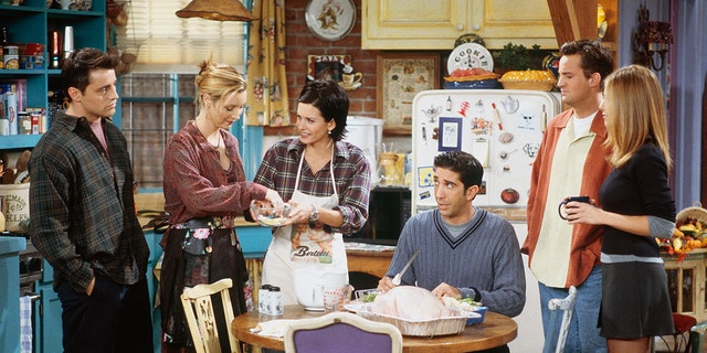 'Friends' featured a number of Thanksgiving-themed episodes. (Photo by Paul Drinkwater/NBCU Photo Bank/NBCUniversal via Getty Images)