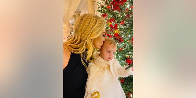 McEnany and her daughter, Blake, at the White House.