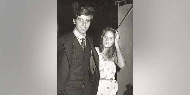 Michael Kennedy and Vicki Gifford during their engagement party.