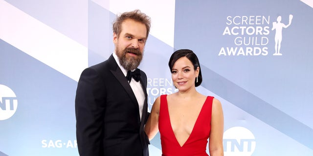 David Harbour and Lily Allengothitchedin September. (Photo by Rich Fury/Getty Images)