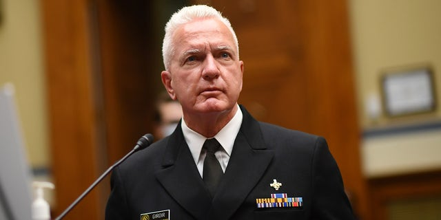 Adm. Brett Giroir, director of the U.S. coronavirus diagnostic testing, testifies at a House Subcommittee on the Coronavirus Crisis hearing on July 31, 2020 a Washington, D.C. (Photo by Kevin Dietsch-Pool/Getty Images)