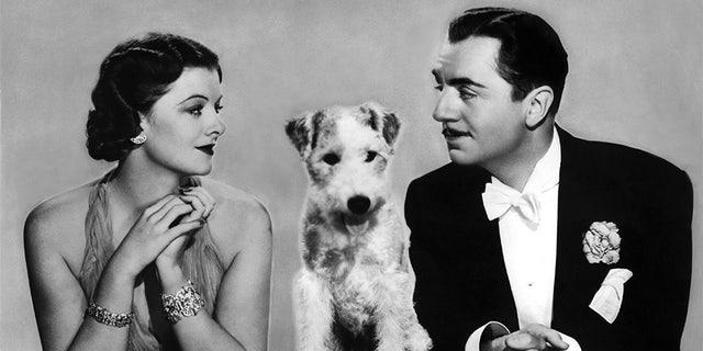 "The popular ""Thin Man"" film franchise stars Myrna Loy and William Powell."