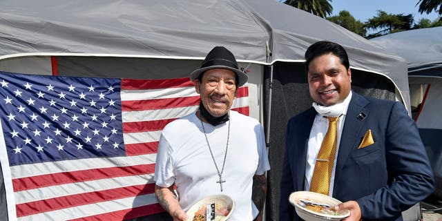(L-R) Danny Trejo and Dr. Michael Everest, founder and co-Chairman, The Everest Foundation