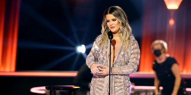 Maren Morris informed fans she has canceled her RSVP tour due to the coronavirus pandemic. New dates are tentatively being scheduled. (Photo by Terry Wyatt/Getty Images for CMA)