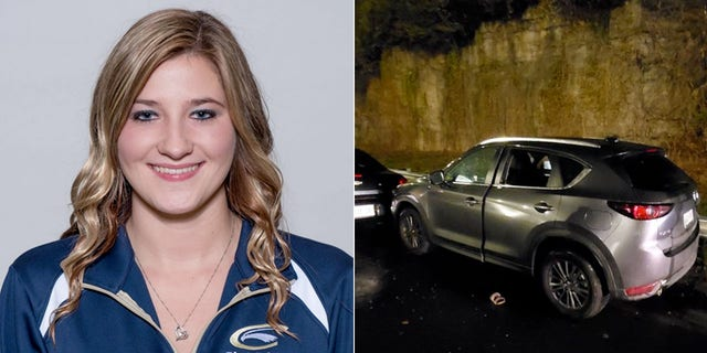 Caitlyn Marie Kaufman, 26, worked as an ICU nurse at a Nashville hospital. Photo shows her SUV after she was shot Thursday evening on I-440.