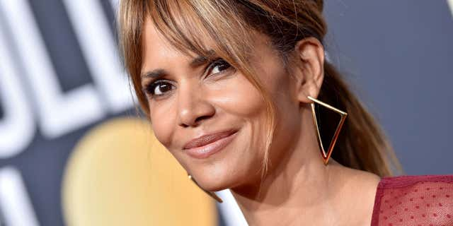 Halle Berry rocked a see-through crop-top designed by Christian Siriano on Instagram on Wednesday.