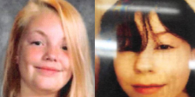 Police had been searching fro Haylie Vance (left) and Kathryn McGuire (right) since they ran away in Ohio on Thanksgiving. (Painesville Police Department)